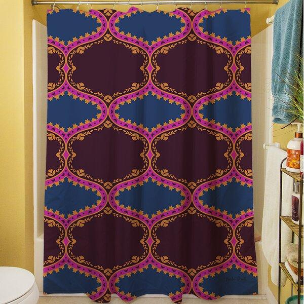 Bird Berries Folk Ogee Shower Curtain by Manual Woodworkers & Weavers