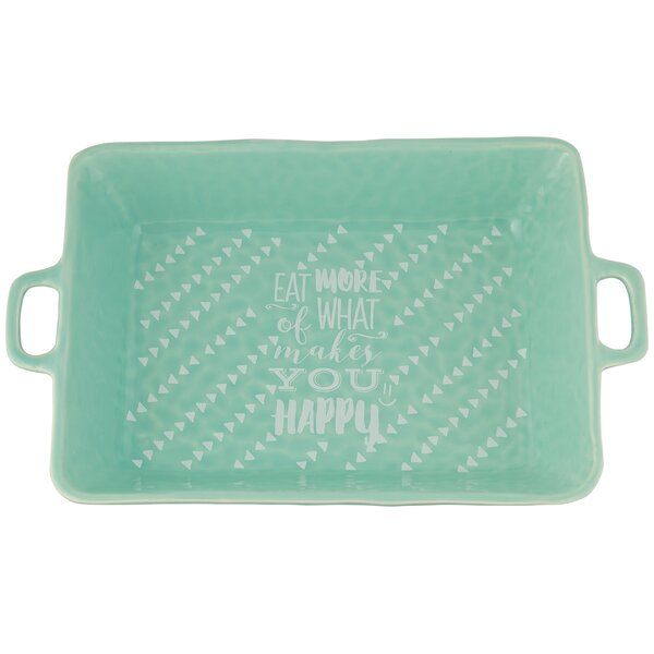 Rectangular Happy Baker Dish by Ten Strawberry Street