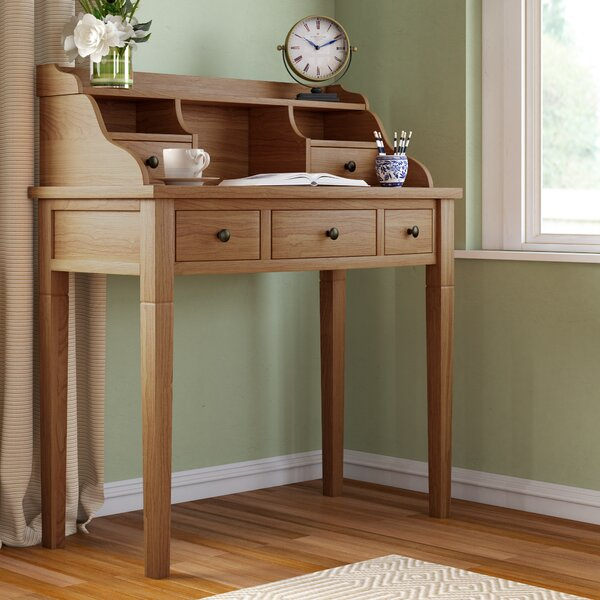 Olavo Secretary Desk with Hutch by Beachcrest Home