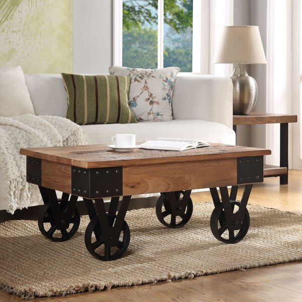 Ono Wheel Coffee Table by 17 Stories 17 Stories