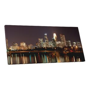 City Skylines Minneapolis Minnesota II Photographic Print on Wrapped Canvas by Pingo World