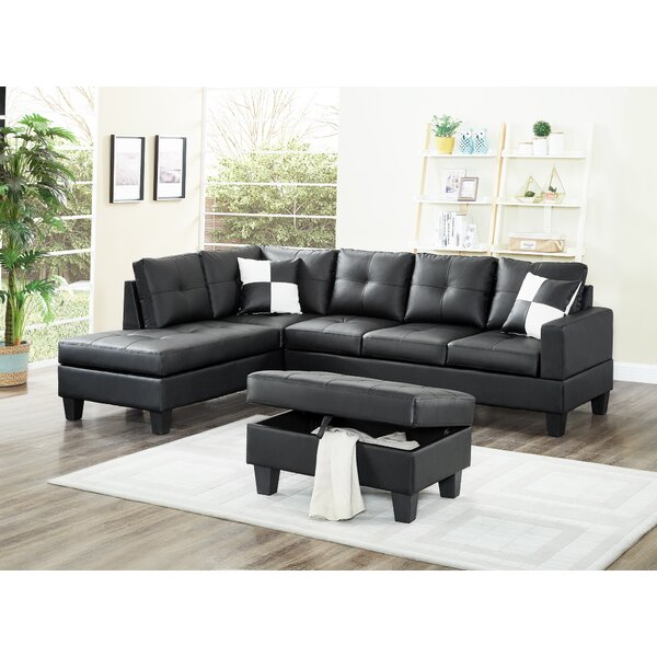 Kahoka Sectional Sofa With Ottoman By Winston Porter