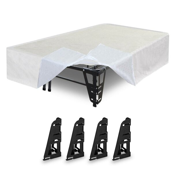Dual-use Metal Base Foundation with Skirt and Brackets by Alwyn Home
