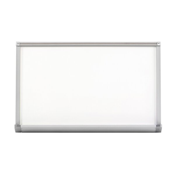 Pro-Lite Magnetic Porcelain Aluminum Trim Whiteboard, 48 x 96 by Offex