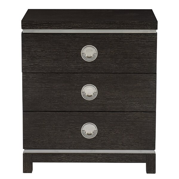 Decorage 3 Drawer Nightstand by Bernhardt Bernhardt