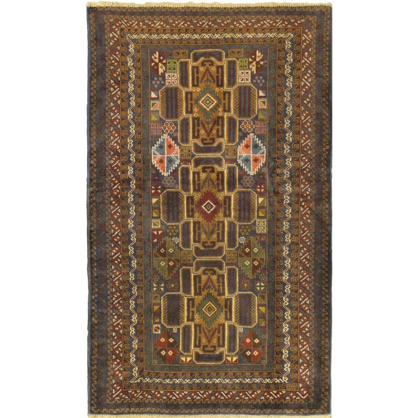 One-of-a-Kind Mcdorman Wool Hand-Knotted Navy Area Rug by Bloomsbury Market