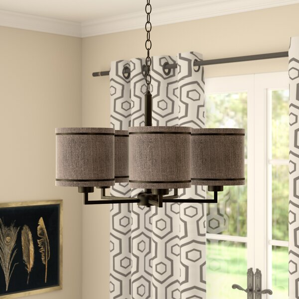 Dundalk 5-Light Shaded Chandelier by Ivy Bronx