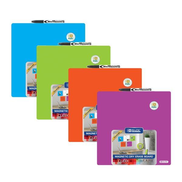 Magnetic Dry Erase Board (Set of 12) by Bazic
