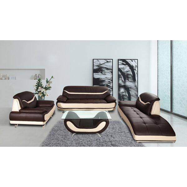 Mccree 3 Piece Leather Living Room Set
