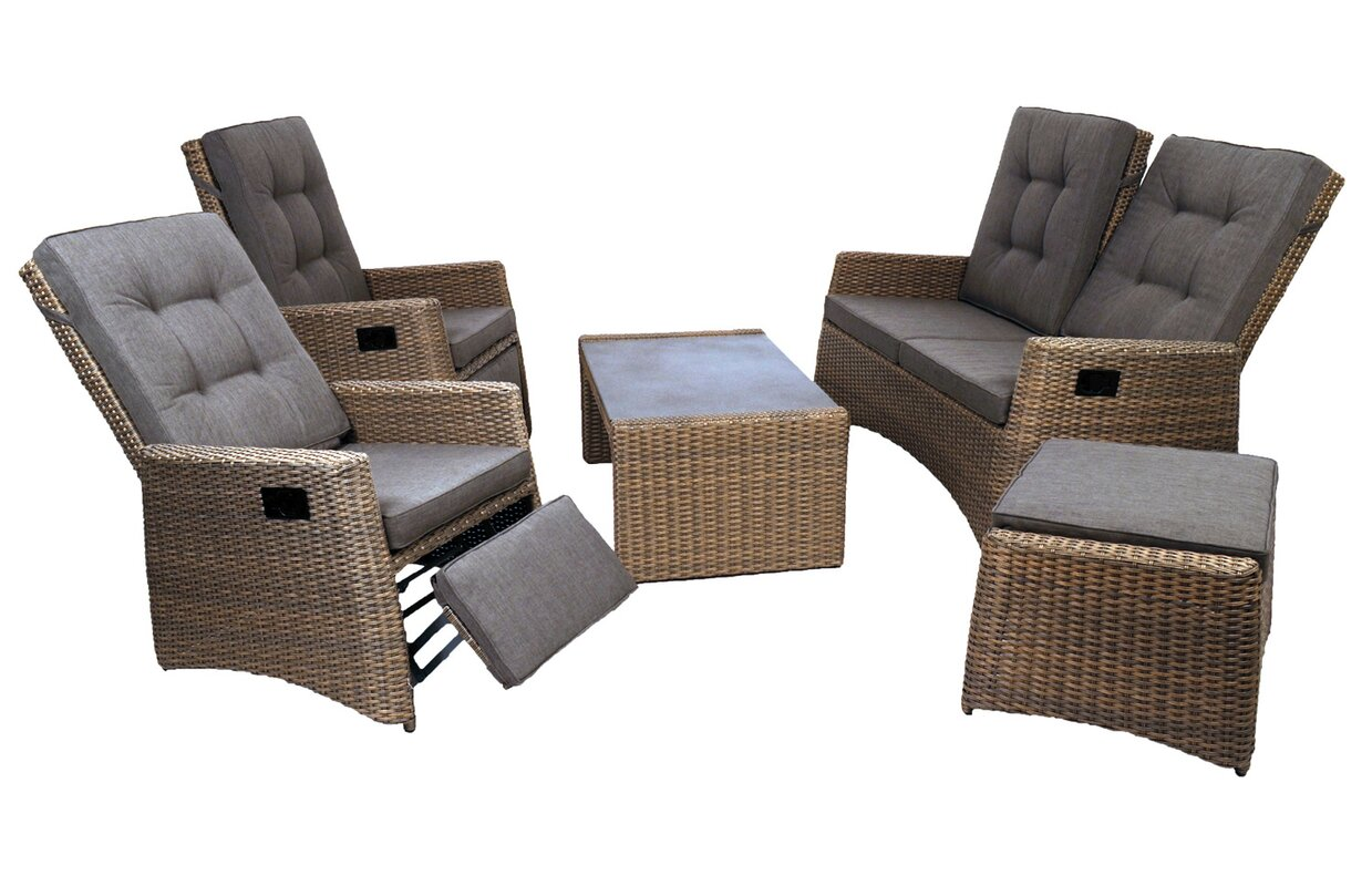 byron manor 5 tlg sofa set milborne mit kissen. Black Bedroom Furniture Sets. Home Design Ideas
