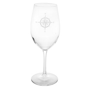 Compass Rose 18 Oz. All Purpose Wine Glass (Set of 4)