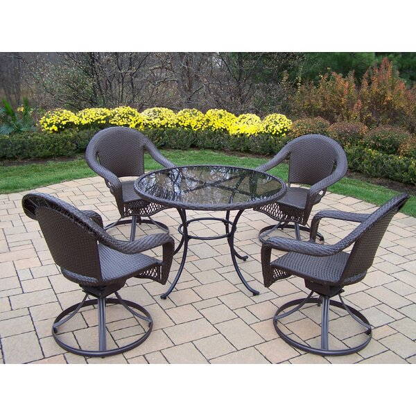 Kingsmill 5 Piece Metal Dining Set by Rosecliff Heights