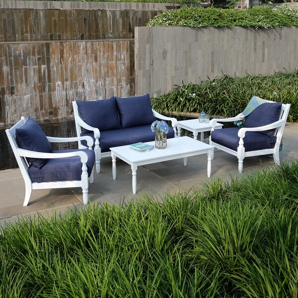 Hillside 5 Piece Sofa Seating Group with Cushions by Highland Dunes
