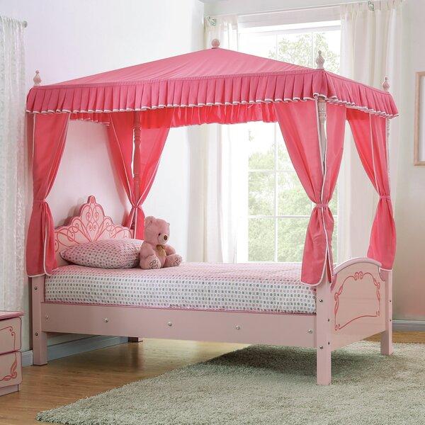 Garnett Twin Canopy Bed by Zoomie Kids