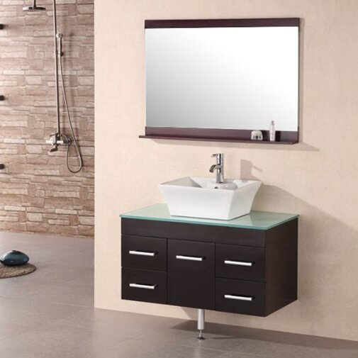 Newcastle 36 Single Bathroom Vanity Set with Mirror by Brayden Studio