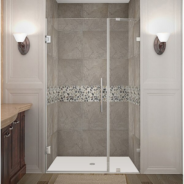 Nautis 41 x 72 Hinged Completely Frameless Shower Door by Aston