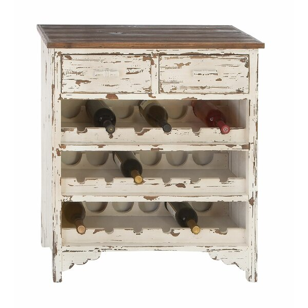 Edgecomb Wood 2 Drawer Wine Cabinet by Beachcrest Home