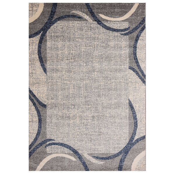 Fennel Cheetham Border Design Gray/Blue Rug
