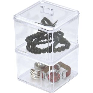 Best Reviews 2 Display Stacked Bath Jewelry Storage Contianer By Evideco