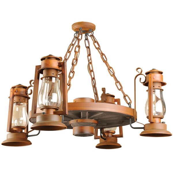 Kroeger 4 - Light Unique / Statement Wagon Wheel Chandelier By Millwood Pines