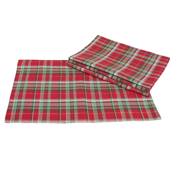 Holiday Tartan Christmas Placemat (Set of 4) by The Holiday Aisle