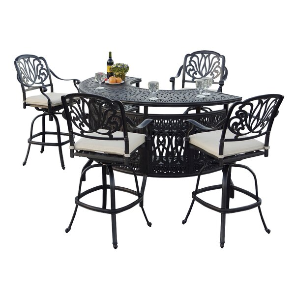 Keyes 5 Piece Dining Set with Cushions by Darby Ho