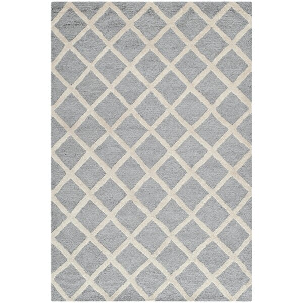 Martins Hand-Tufted Silver/Ivory Area Rug by Wrought Studio