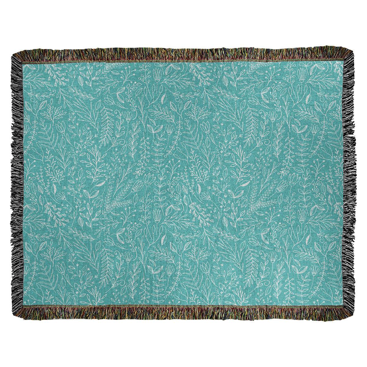 Ebern Designs Leffel Ditsy Floral Woven Cotton Blanket Wayfair