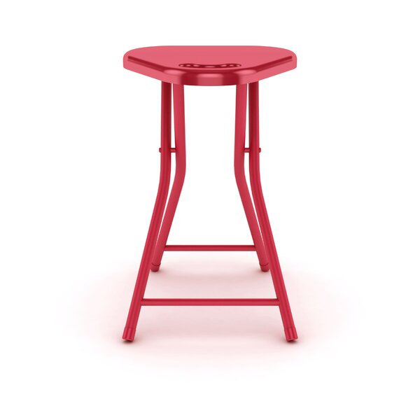 Silvia Folding Stool with Handle (Set of 4) by Zipcode Design
