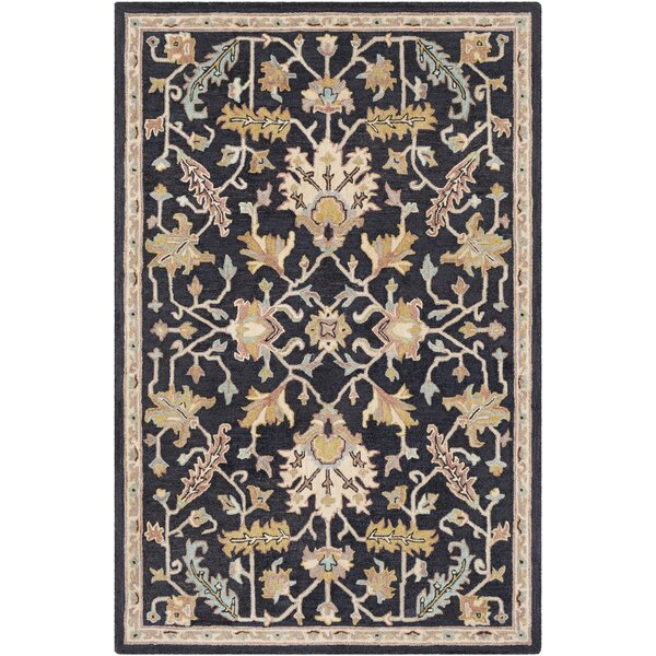 Greater Taree Hand Hooked Wool Black/Khaki Area Rug by Alcott Hill