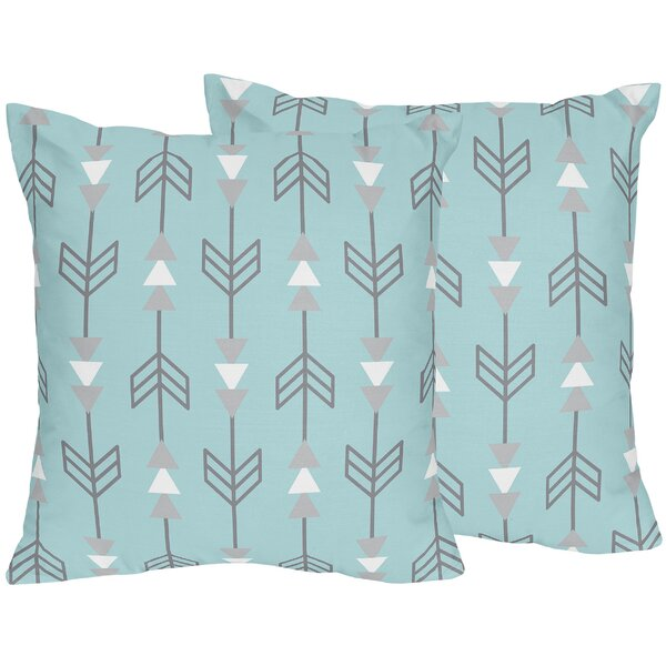 Earth and Sky Arrow Print Throw Pillow (Set of 2) by Sweet Jojo Designs
