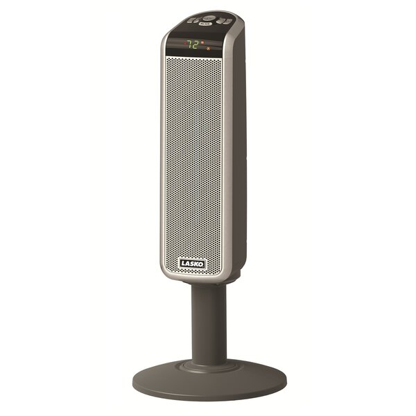 1,500 Watt Portable Electric Fan Tower Heater with Digital Remote by Lasko