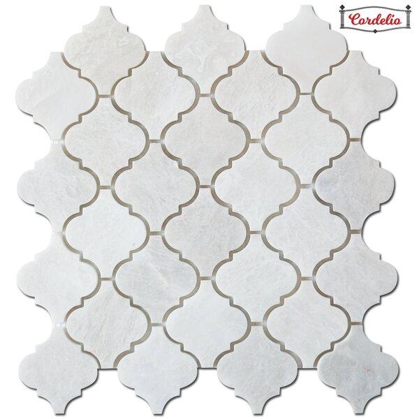 Arabesque 12 x 12 Marble Tile in Iceberg