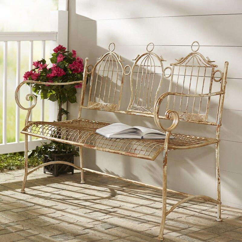 one allium way 2 sitzer gartenbank 3 birdcages aus metall. Black Bedroom Furniture Sets. Home Design Ideas