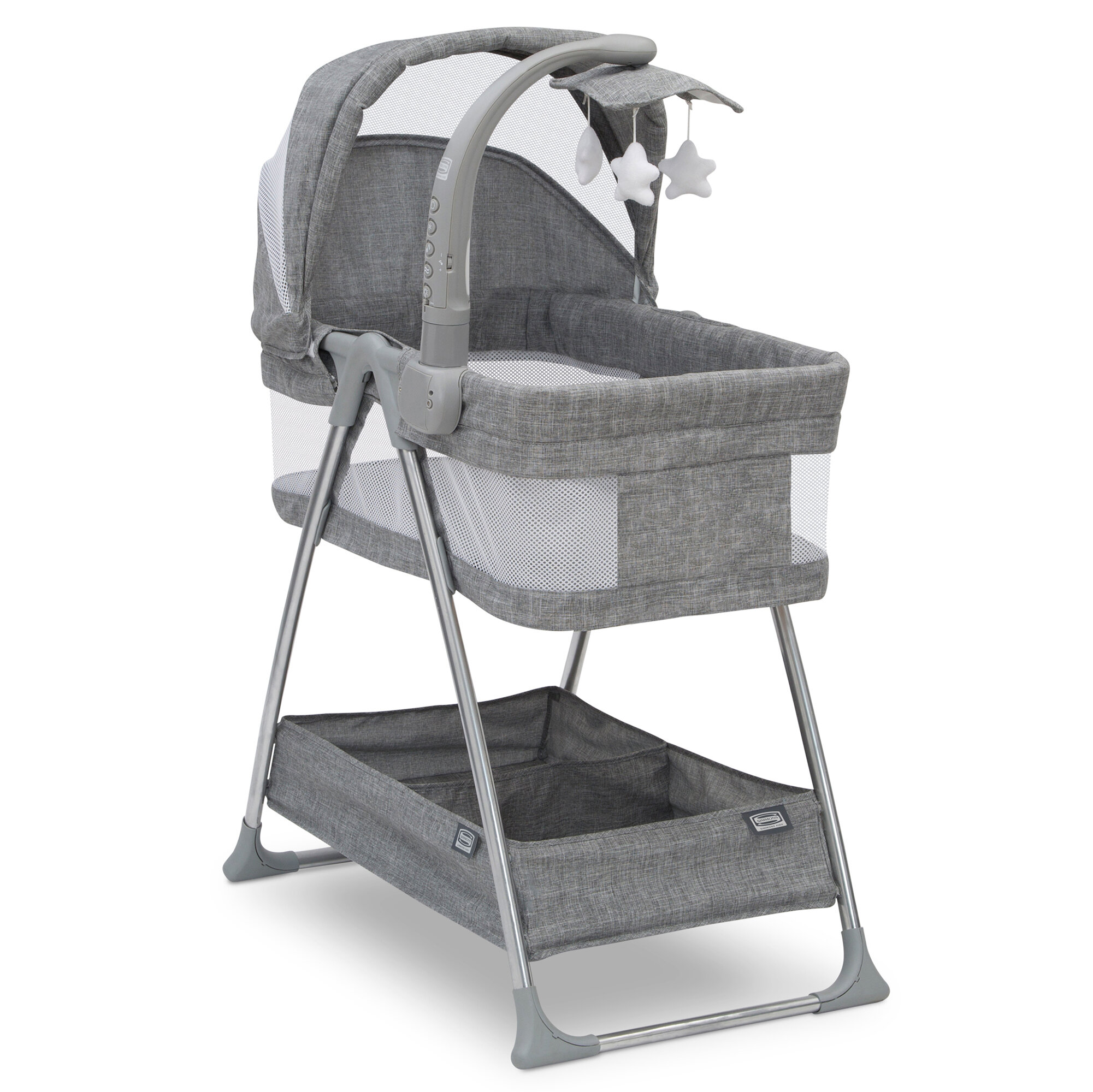 Grey Tweed Simmons Kids by The Bed City Sleeper Bassinet