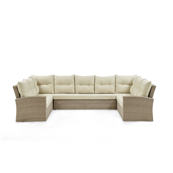 Pangkal Pinang Patio Sectional with Cushions by Highland Dunes