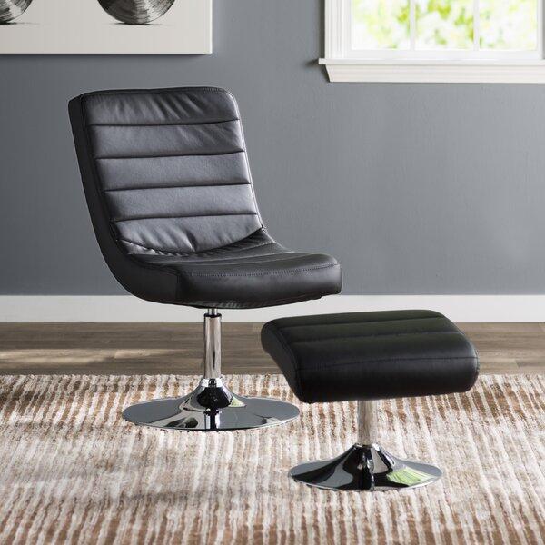 Oberg Swivel Lounge Chair And Ottoman By Orren Ellis No Copoun