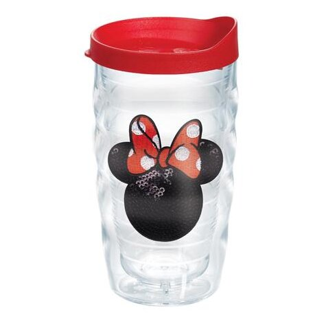 Disney Minnie Mouse Sequins 10 oz. Plastic Every Day Glass by Tervis Tumbler