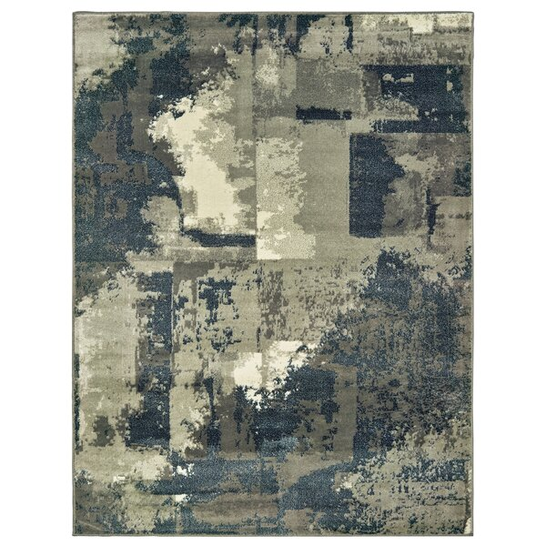 Covington Abstract Impression Gray/Navy Area Rug by Williston Forge