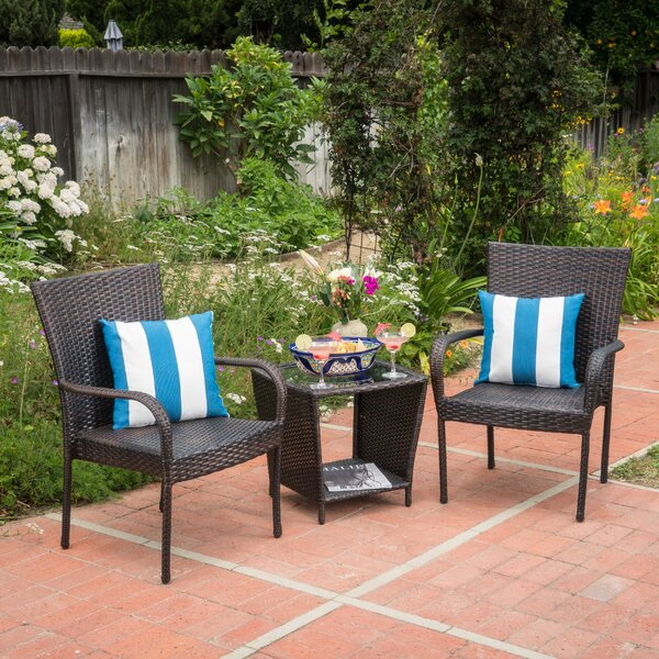 Aisha 3 Piece Rattan Seating Group Set by Ebern Designs