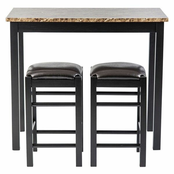 Moorehead 3 Piece Counter Height Dining Set by Winston Porter