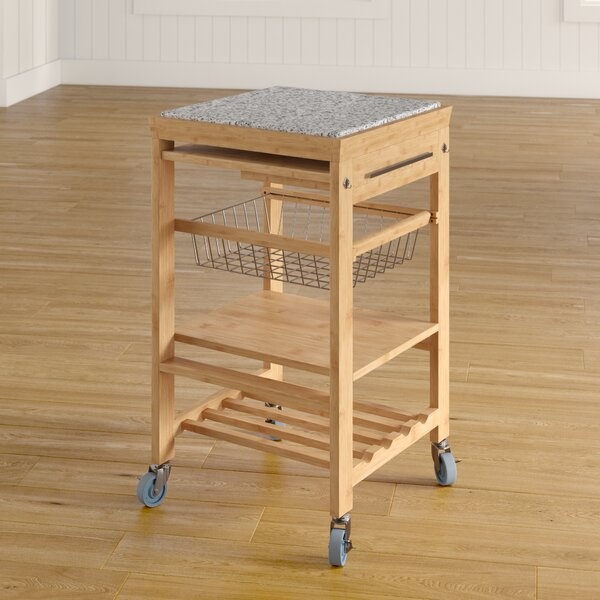Ilana Kitchen Cart With Granite Top By August Grove Best
