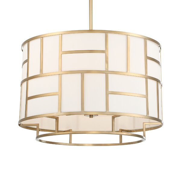 Todd 6-Light Drum Chandelier by Everly Quinn