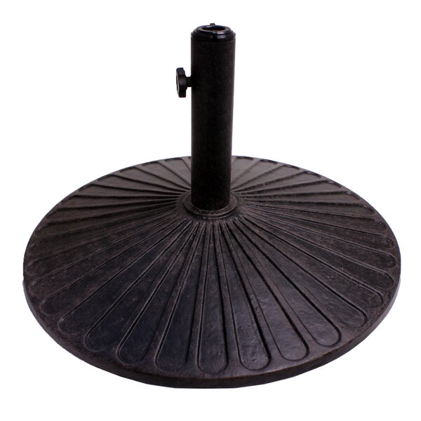 Coneflower Cast Iron Free standing Umbrella Base by California Outdoor Designs