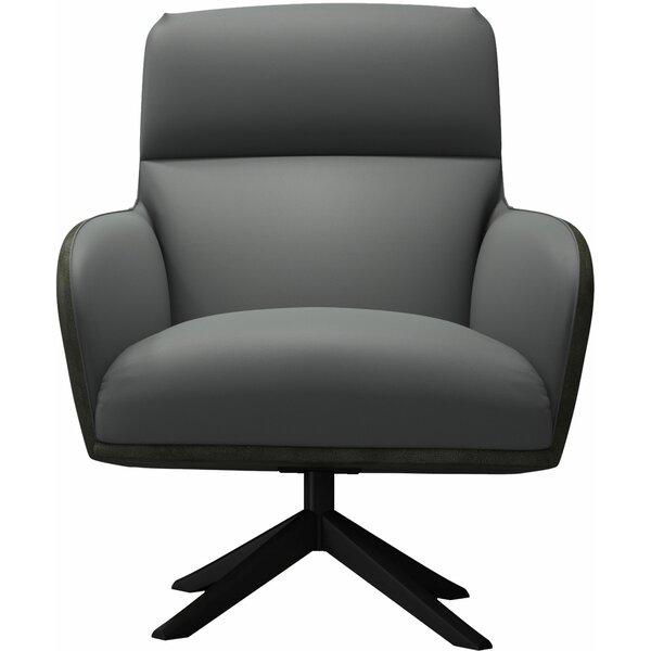 Christie Swivel Lounge Chair by Modloft Black Modloft Black