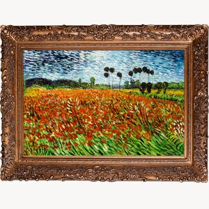 Field of Poppies' by Vincent Van Gogh Framed Painting by Tori Home