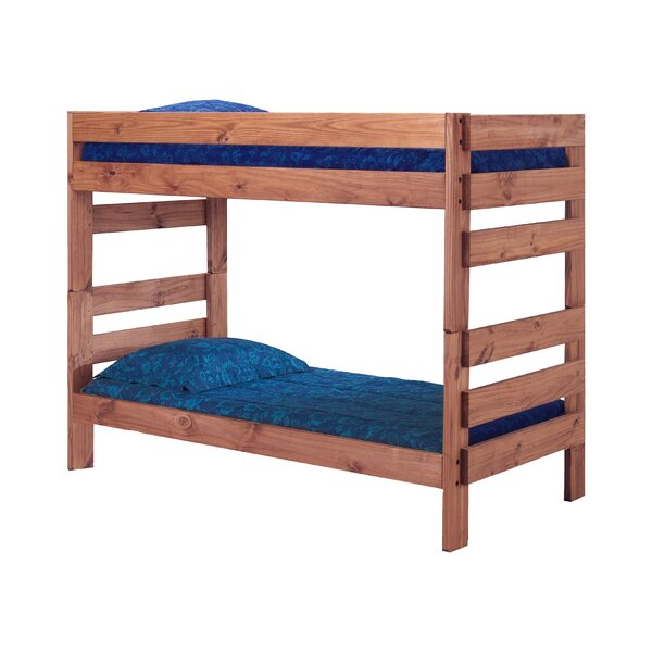 Poisson Stackable Twin Over Twin Bunk Bed with Mattress by Zoomie Kids