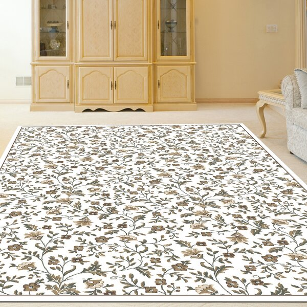 Ackermanville Bone Area Rug by Charlton Home