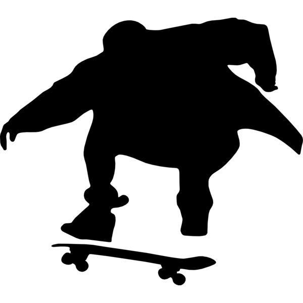 Skateboard Silhouette III Cutout Wall Decal by Wallhogs