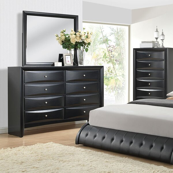 Sroda 8 Drawer Double Dresser with Mirror by Latitude Run